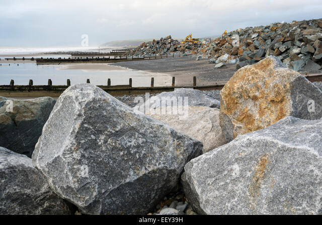 Borth Beach Sea Defences