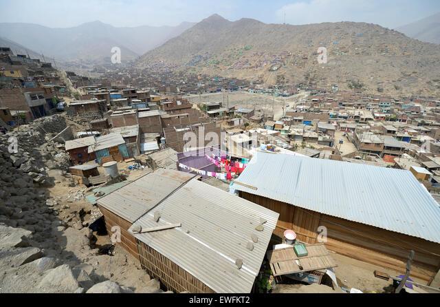 Slum '200 Zone D' Huaycan, Lima, Peru - Stock Image