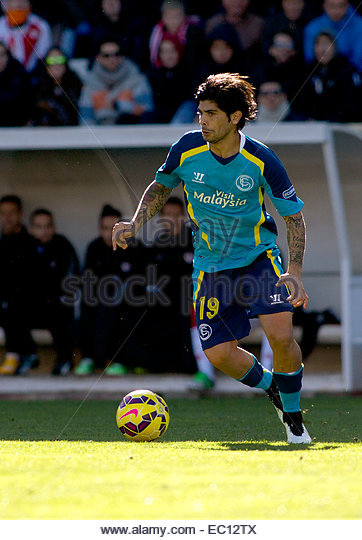SPAIN, Madrid: Sevilla FC´s Argentinean midfielder player Ever Banega during the Spanish League 2014/15 match - Stock Image