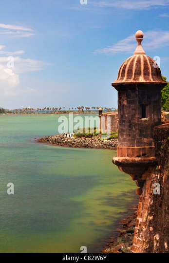 El Morro, the fort of San Felipe in Old San Juan, Puerto Rico. - Stock Image