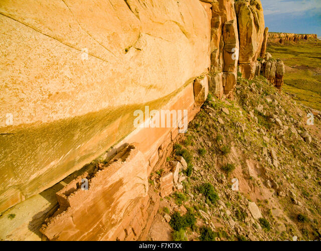 Ruin on ledge, Proposed Bears Easr National Monument, Utah, Ancient Anasazi - Stock Image