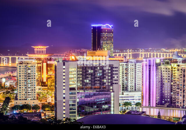 Macau, China city skyline. - Stock Image