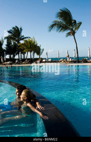 Hotel the residence mauritius stock photos hotel the for Swimming pool mauritius