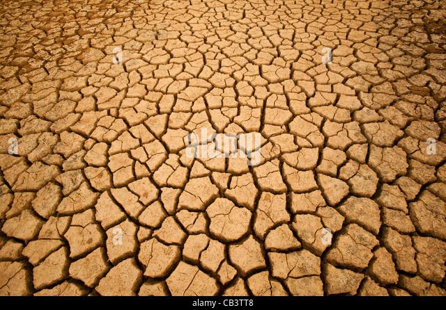Cracked soil in Sarigua National park (desert) in the Herrera province, Republic of Panama. - Stock-Bilder