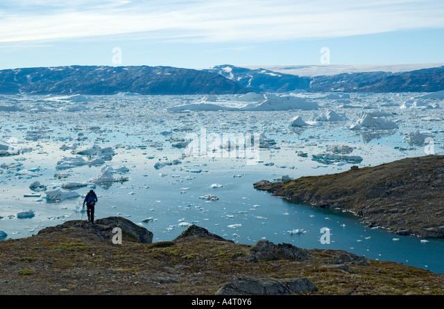 At Sermilik Fjord, East Greenland - Stock Image