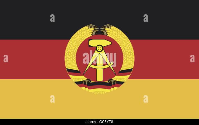 heraldry, flags, German Democratic Republic, national flag, 1.10.1959 - 2.10.1990, - Stock-Bilder