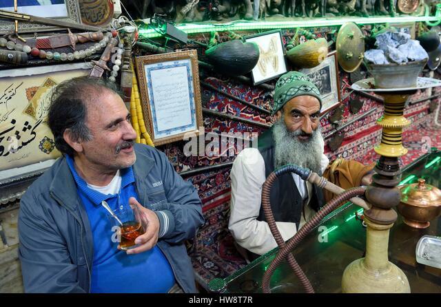 Iran, Isfahan Province, Isfahan, Chai Khaneh Azadegan Tea House and restaurant - Stock Image