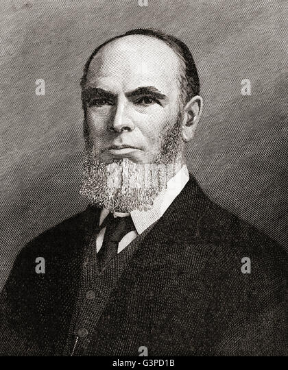 Leonard Henry Courtney, 1st Baron Courtney of Penwith, 1832 –1918.  British politician, academic and man of letters. - Stock Image