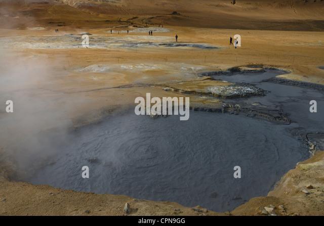Geothermal mudpot, Namafjall, Iceland - Stock Image