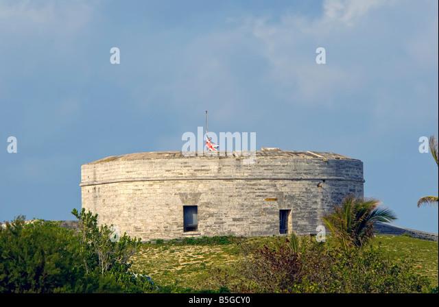 Fort St Catherine st george bermuda historic landmark - Stock Image