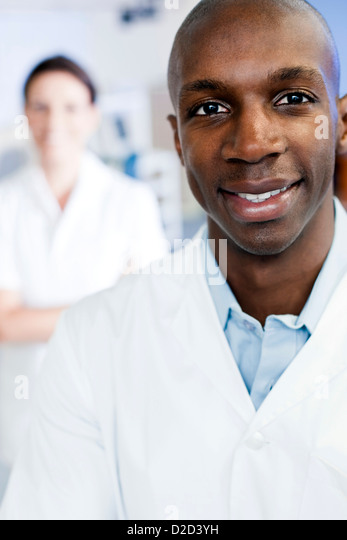 MODEL RELEASED Sports science researchers - Stock Image