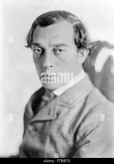 Buster Keaton. Portrait of the silent film star, Buster Keaton, in 'The General'. - Stock Image