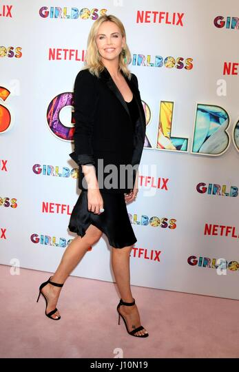 Los Angeles, California, USA. 17th Apr, 2017. Charlize Theron at arrivals for GIRLBOSS premiere, Arclight Hollywood, - Stock Image