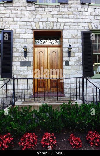 Historic stone building in Old Town, Winchester, Virginia now a law firm's office - Stock Image