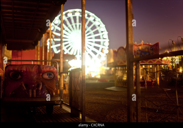 Haunted house ride car in a fair - Stock Image