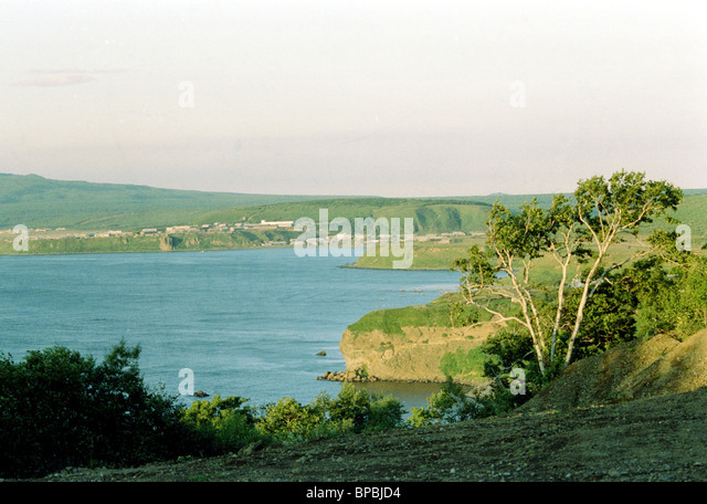 . File picture shows the South Kurile Iturup Island . - Stock Image