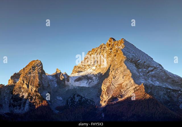 Mount Watzmann in the Bavarian Alps near Berchtesgaden, Bavaria, Germany - Stock-Bilder