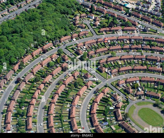 Suburban Britain, Local authority Estate, Nottingham,  East Midlands, England, UK - Stock Image