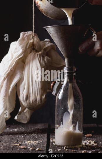 Non-dairy almond milk - Stock Image