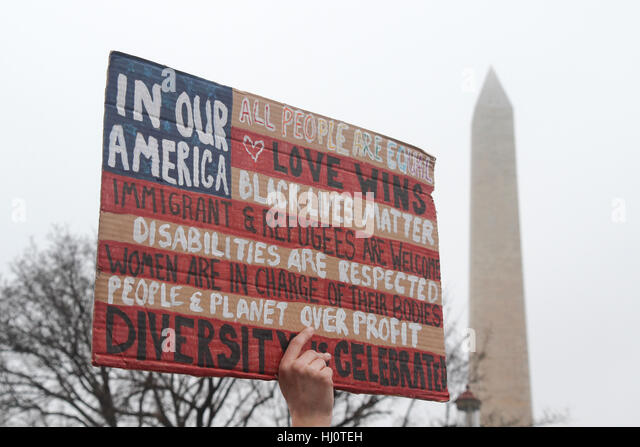 Washington, DC, United States. 21st Jan, 2017. Women's March on Washington. Credit: Susan Pease/Alamy Live News - Stock-Bilder