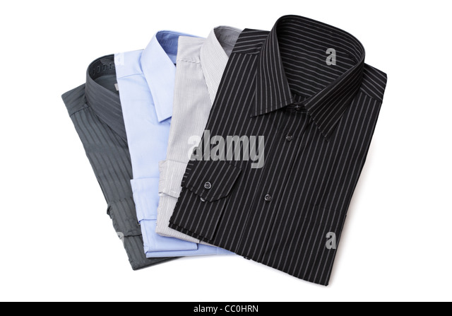 New men's dress shirts - Stock Image
