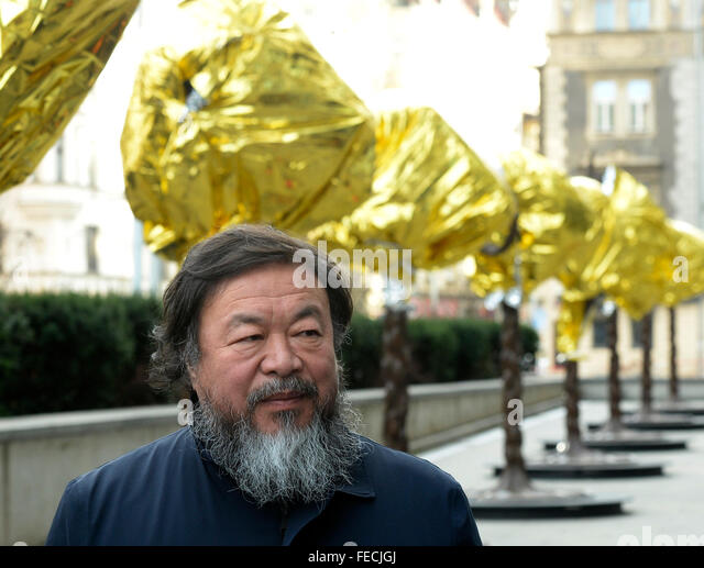 Prague, Czech Republic. 05th Feb, 2016. World-renowned Chinese artist, activist and critic of the Beijing regime - Stock Image