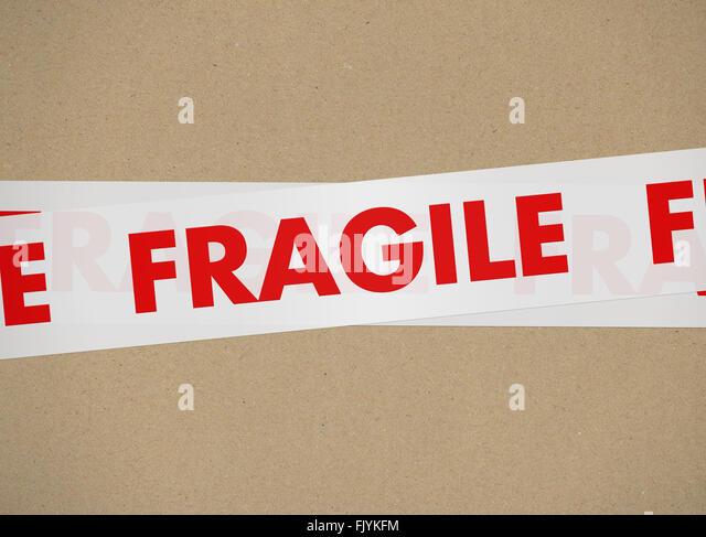 cardboard - Fragile - Stock Image