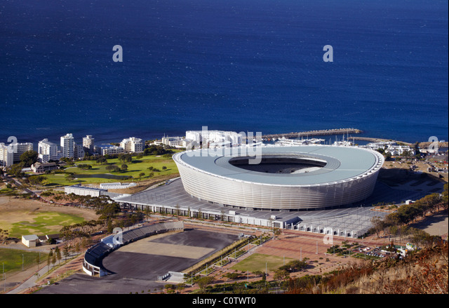 Cape Town Stadium, built for the 2010 FIFA World Cup. Green Point, Cape Town, Western Cape, South Africa. - Stock Image