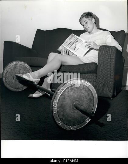 Feb. 29, 2012 - Lost in the world athletics is England's Olympic favourite for the 400 metres, Lillian Board - Stock Image