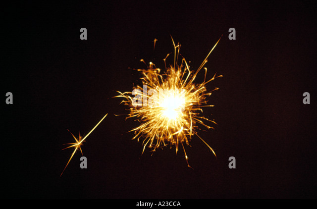 a sparkler - Stock Image