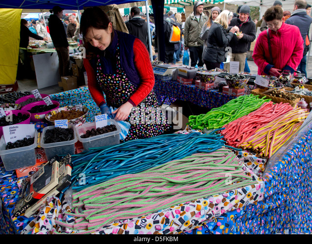 Liquorice stall at the Brighton Food and Drink Festival 2013 - Stock Image