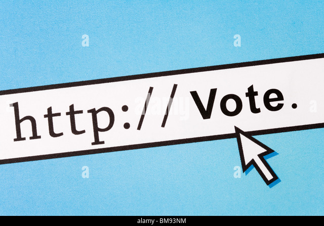 Computer Screen, concept of online voting - Stock Image