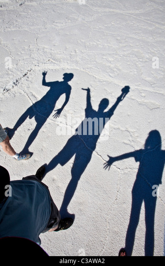 Shadows, Bristol Lake (Dry Lake Bed) California, United States of America - Stock-Bilder
