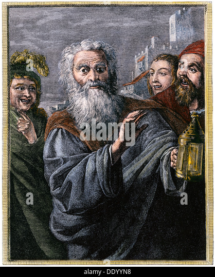 Diogenes in Search of an Honest Man (Illustration ...