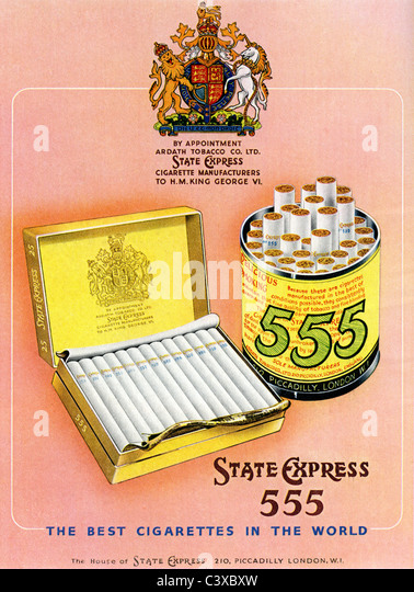 Advertisement for State Express, from The Festival of Britain guide, published by HMSO. London, UK, 1951 - Stock-Bilder