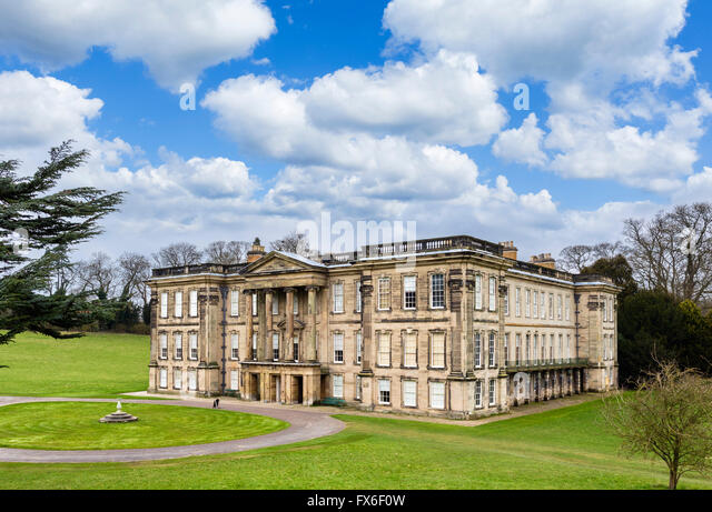 Calke Abbey, an early 18thC baroque mansion near Ticknall, Derbyshire, England, UK - Stock Image