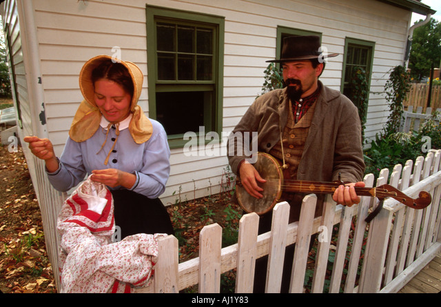 Ohio Columbus Ohio Village recreated Civil War era town interpreters - Stock Image