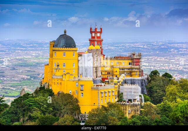 Sintra, Portugal at Pena National Palace. - Stock Image