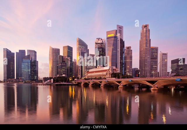 Singapore, City Skyline - Stock Image