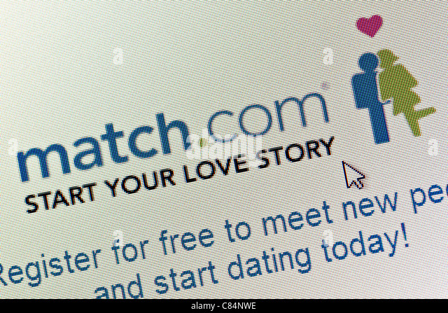 Match.com logo and website close up - Stock Image