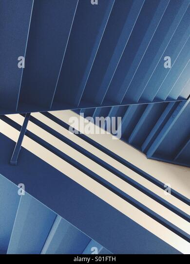 Blue Stairs - Stock Image