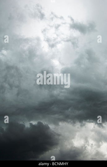 storm clouds summer - Stock Image