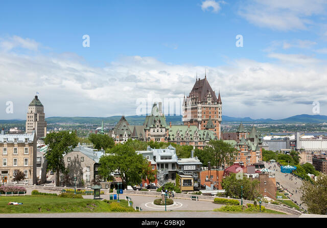Quebec City viewed from La Citadelle - Stock Image
