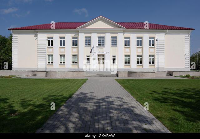 Orissaare gymnasium. Kuivastu maantee 29. Orissaare. Island Saaremaa. Estonia. Baltic States. EU - Stock Image