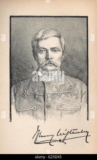 Henry Morton Stanley, Explorer & Journalist 1841?1904 Portrait with Signature - Stock-Bilder