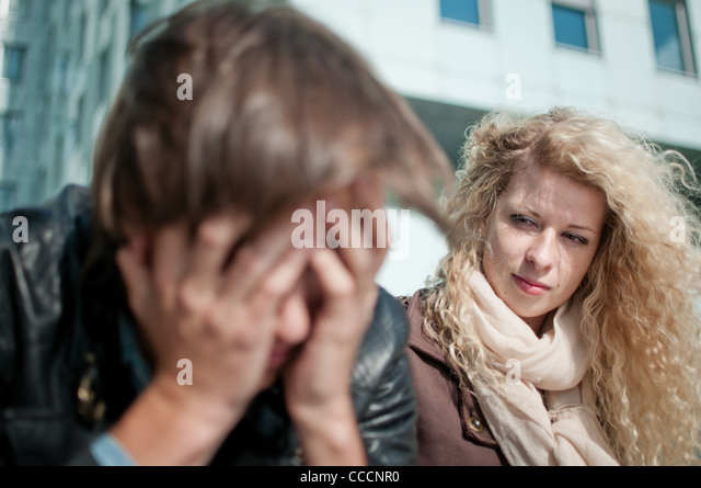Big problems - man in troubles - Stock Image