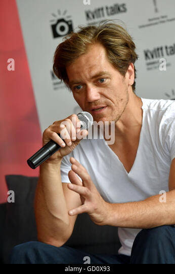 Karlovy Vary, Czech Republic. 09th July, 2016. U.S.actor Michael Shannon attends a conference at the 51st Karlovy - Stock-Bilder