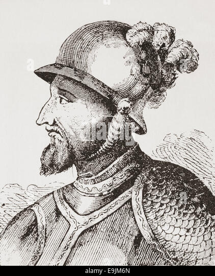 Bartholomew Columbus, c. 1461 ? 1515.   Genoese explorer and the younger brother of Christopher Columbus. - Stock-Bilder