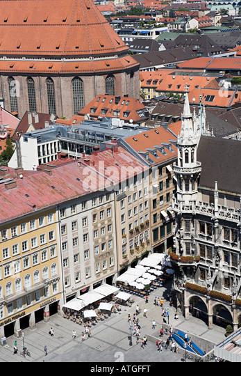Marienplatz munich germany - Stock Image