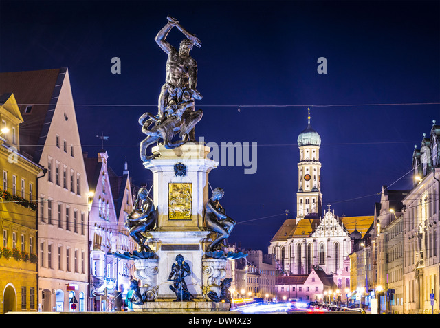 Augsburg, Germany townscape on Maximilianstrasse. - Stock Image